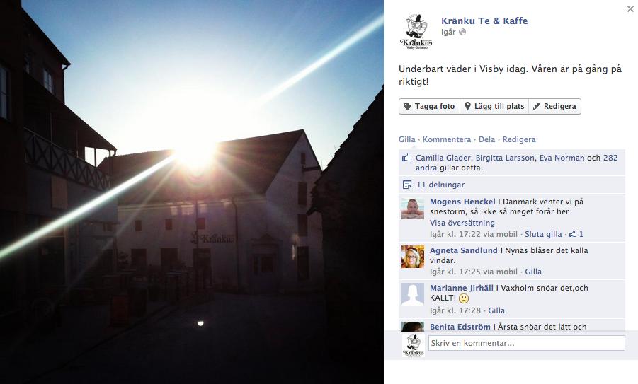 Vårsol i Visby - Facebookstudie